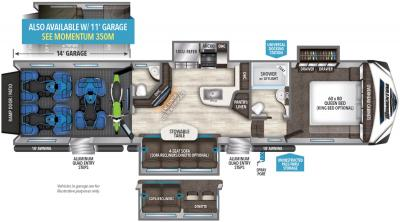 2019 Grand Design Momentum 388M floorplan