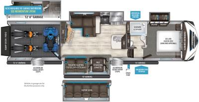 2019 Grand Design Momentum 394M floorplan