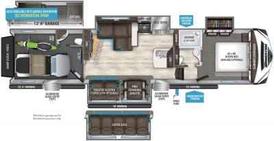 2019 Grand Design Momentum 395M floorplan