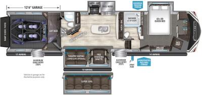 2019 Grand Design Momentum 397TH floorplan