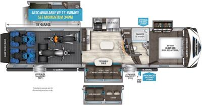 2019 Grand Design Momentum 398M floorplan