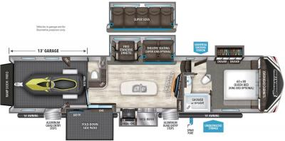 2019 Grand Design Momentum 399TH floorplan