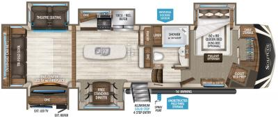 2019 Grand Design Solitude 360RL-R floorplan