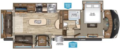 2019 Grand Design Solitude 369RL floorplan