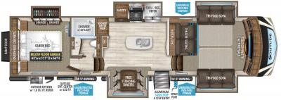2019 Grand Design Solitude 374TH-R floorplan