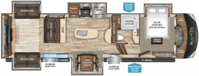 2019 Grand Design Solitude 375RE-R floorplan