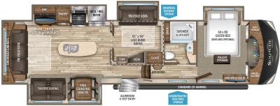 2019 Grand Design Solitude 377MB floorplan