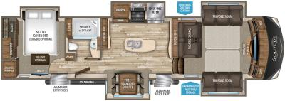 2019 Grand Design Solitude 379FL-R floorplan