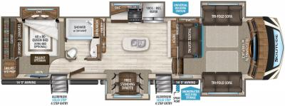2019 Grand Design Solitude 379FLS floorplan