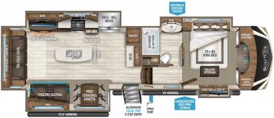 2019 Grand Design Solitude 384GK floorplan