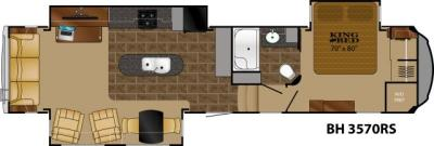 2019 Heartland Bighorn 3570RS floorplan