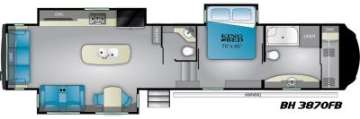 2019 Heartland Bighorn 3870FB floorplan