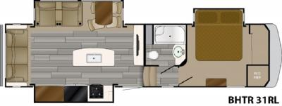 2019 Heartland Bighorn Traveler 31 RL floorplan