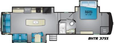 2019 Heartland Bighorn Traveler 37 SS floorplan