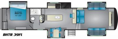 2019 Heartland Bighorn Traveler 39 FL floorplan