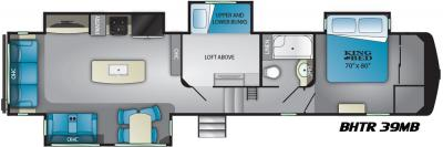2019 Heartland Bighorn Traveler 39 MB floorplan