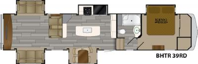 2019 Heartland Bighorn Traveler 39 RD floorplan