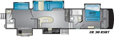 2019 Heartland ElkRidge 38RSRT floorplan