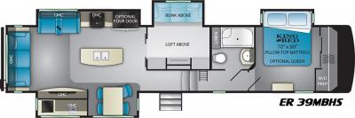 2019 Heartland ElkRidge 39MBHS floorplan