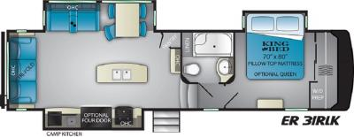 2019 Heartland ElkRidge 31RLK floorplan