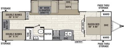 2019 Coachmen Freedom Express 29SE floorplan
