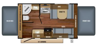 2019 Jayco Jay Feather X17Z floorplan