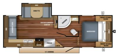 2019 Jayco Jay Feather 23RLSW floorplan