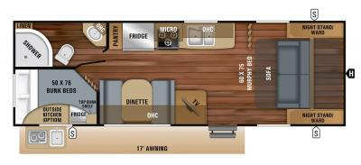 2019 Jayco Jay Feather 23BHM floorplan