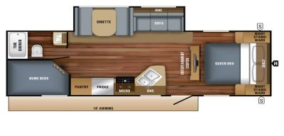 2019 Jayco Jay Feather 25BH floorplan