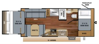 2019 Jayco Jay Feather X213 floorplan