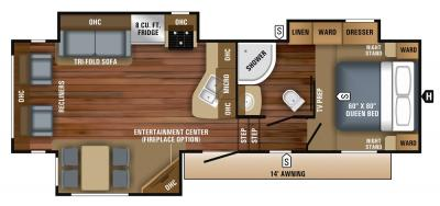 2018 Jayco Eagle HT 27.5RLTS floorplan