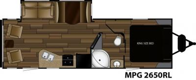 2018 Cruiser RV MPG MPG 2650RL floorplan