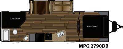 2018 Cruiser RV MPG MPG 2790DB floorplan