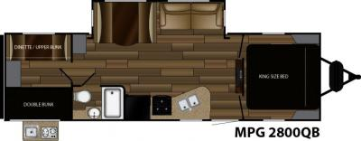 2018 Cruiser RV MPG MPG 2800QB floorplan