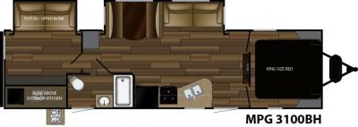 2018 Cruiser RV MPG MPG 3100BH floorplan