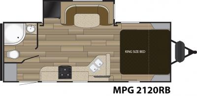 2018 Cruiser RV MPG MPG 2120RB floorplan