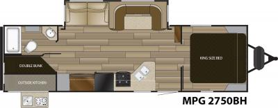 2018 Cruiser RV MPG MPG 2750BH floorplan