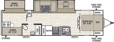 2019 Coachmen Freedom Express 31SE floorplan