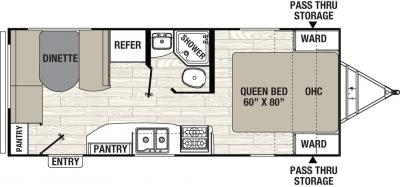 2019 Coachmen Freedom Express 204RD floorplan