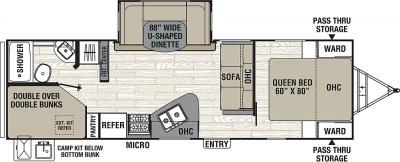 2019 Coachmen Freedom Express 275BHS floorplan