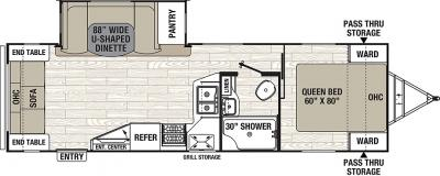 2019 Coachmen Freedom Express 279RLDS floorplan