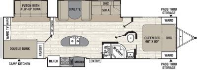 2019 Coachmen Freedom Express 320BHDS floorplan