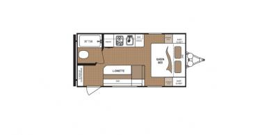 2019 Dutchmen Aspen Trail 1600RB floorplan