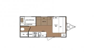 2019 Dutchmen Aspen Trail 1700BH floorplan