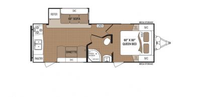 2019 Dutchmen Aspen Trail 2390RKS floorplan