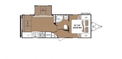 2019 Dutchmen Aspen Trail 2460RLS floorplan