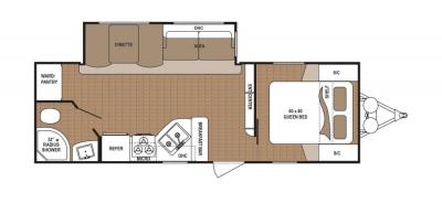 2019 Dutchmen Aspen Trail 2480RBS floorplan