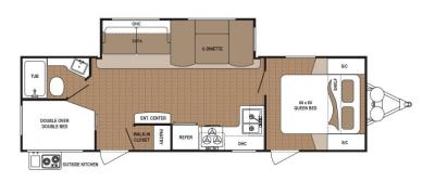 2019 Dutchmen Aspen Trail 2790BHS floorplan