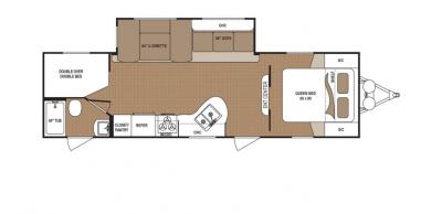 2019 Dutchmen Aspen Trail 2810BHS floorplan
