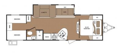 2019 Dutchmen Aspen Trail 2890BHS floorplan